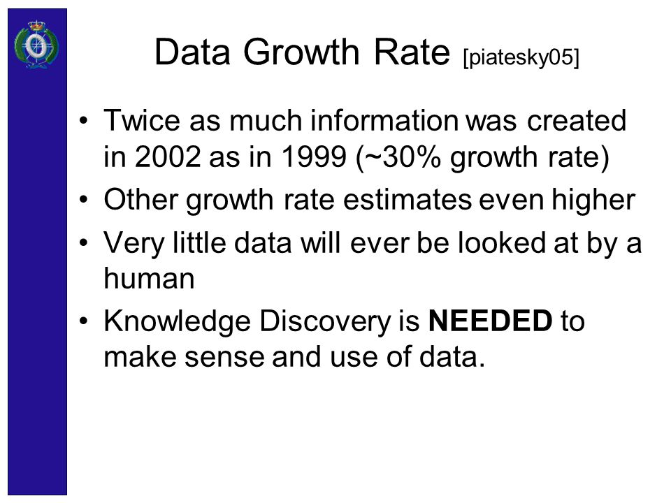 Data Growth Rate [piatesky05]